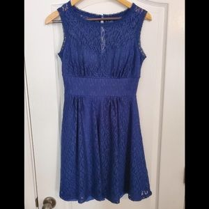 *USED* blue lace dress